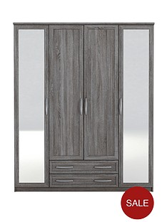 texas-4-door-2-drawer-mirrored-wardrobe