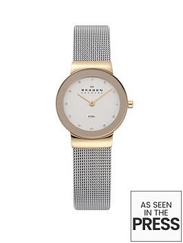 skagen-freja-small-gold-case-and-white-dial-stainless-steel-ladies-watch