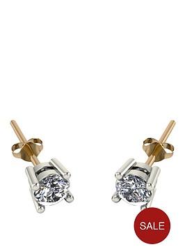 moissanite-18-carat-yellow-gold-50-point-equivalent-moissanite-earrings