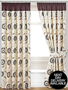 verena-printed-pencil-pleat-curtains-with-tie-backs
