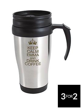 personalised-keep-calm-travel-mug