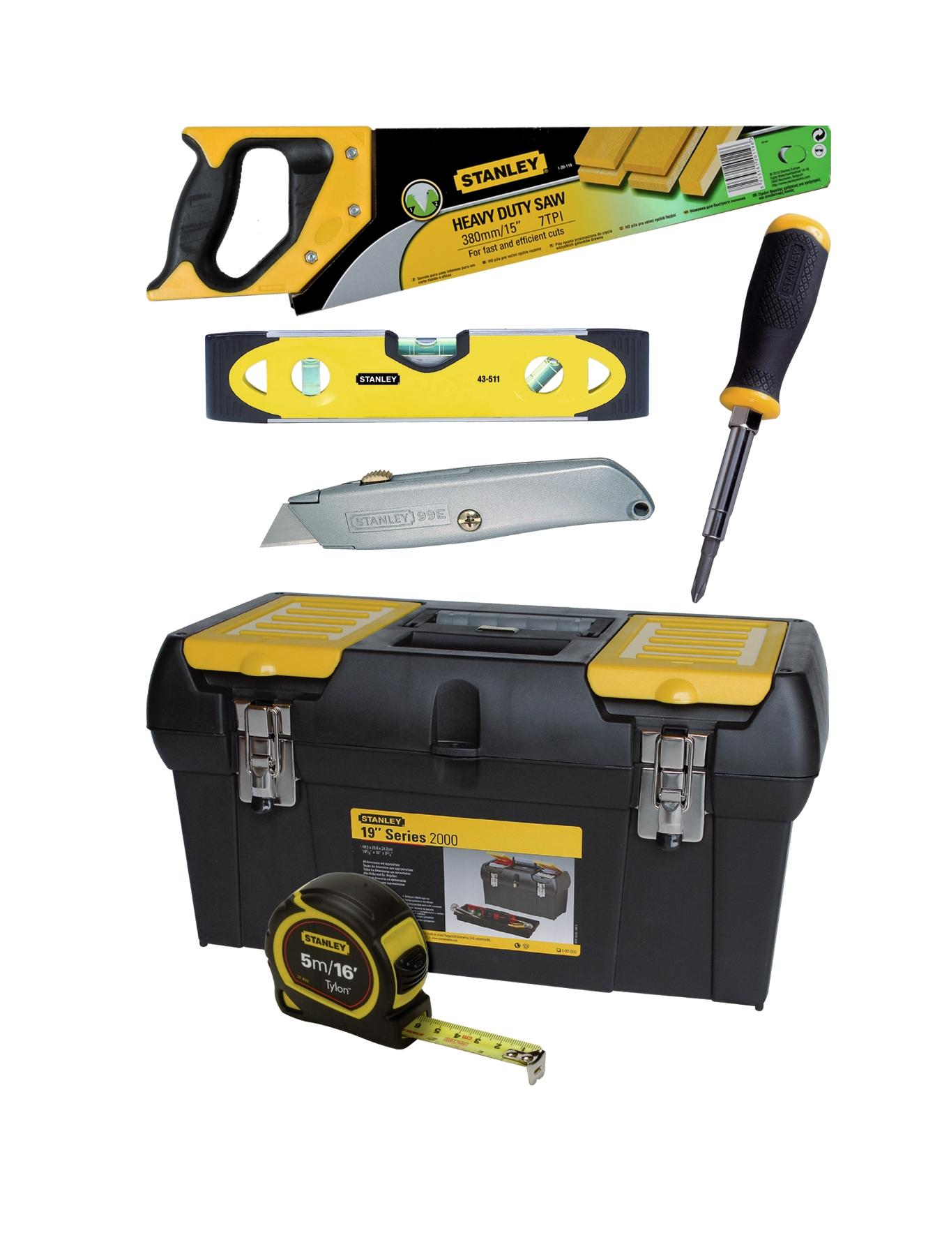 Stanley Tool Box and Tools