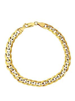 love-gold-9-carat-yellow-gold-pave-diamond-cut-solid-23-oz-curb-bracelet