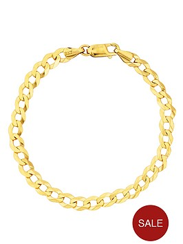 love-gold-9-carat-yellow-gold-solid-diamond-cut-curb-bracelet-8in
