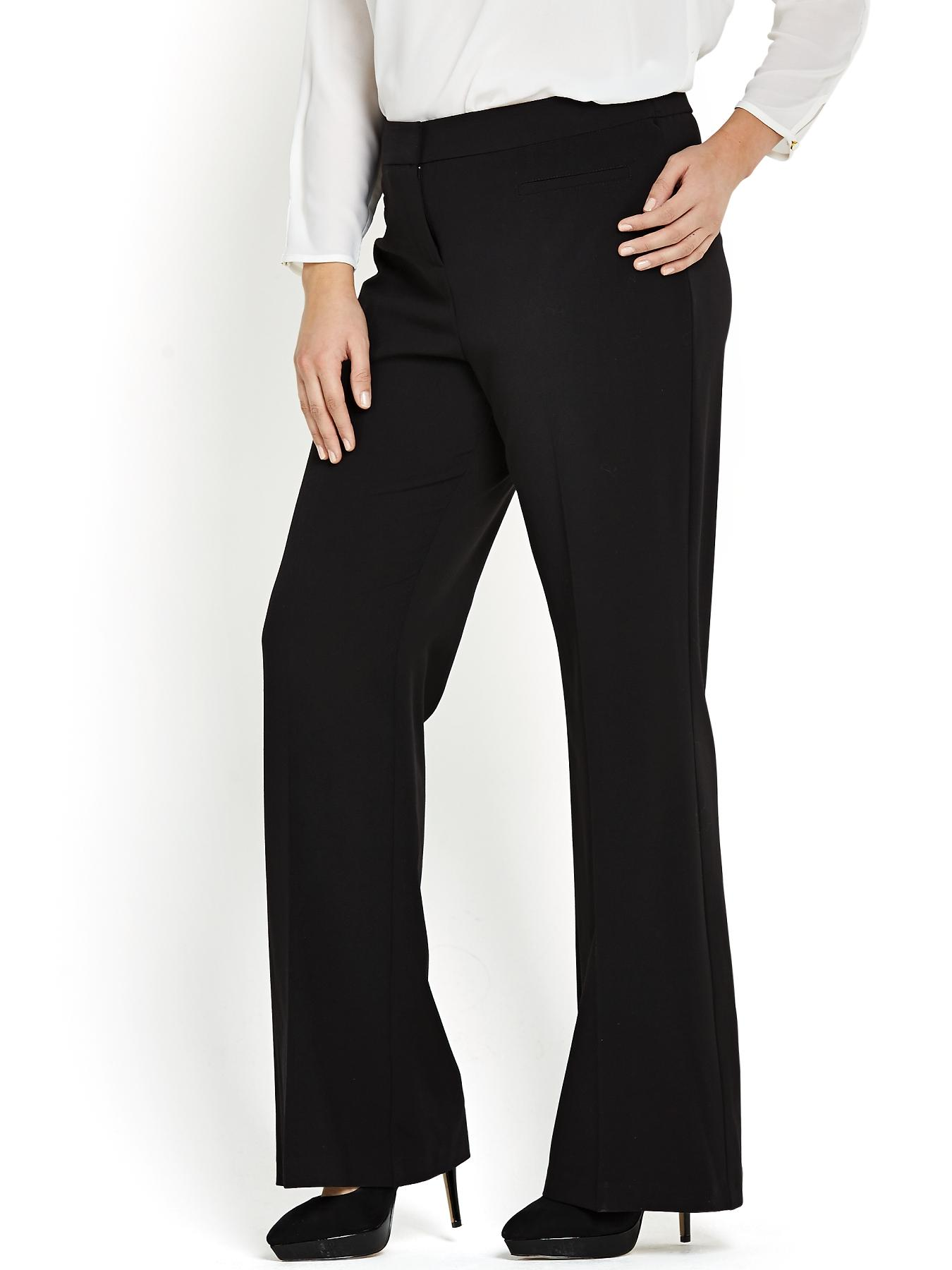 Plus size navy trousers uk