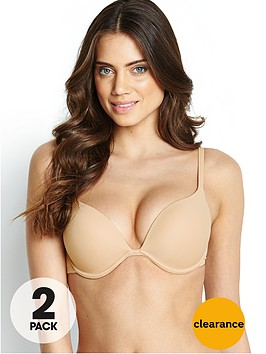 intimates-solutions-ultimate-cleavage-push-up-bra-2-pack