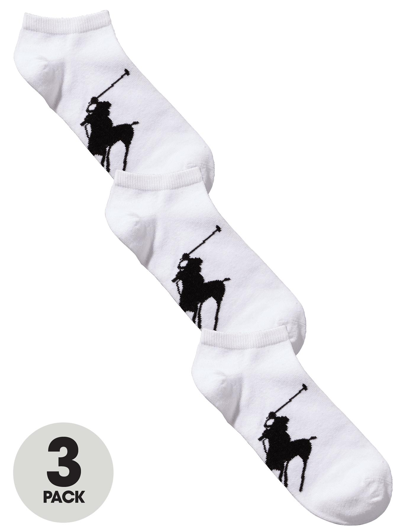 Polo Ralph Lauren Mens Trainer Socks (3 Pack) - White, White