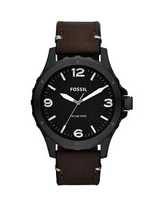 fossil-nate-brown-leather-strap-mens-watch