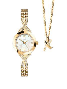 sekonda-gold-tone-stone-set-ladies-watch-and-pendant-gift-set