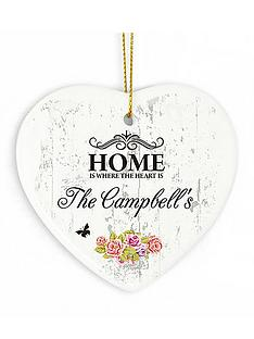 personalised-shabby-chic-floral-ceramic-heart