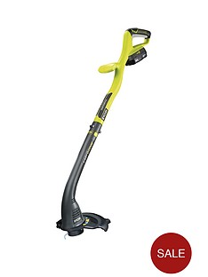 ryobi-rlt1825li-one-18-volt-cordless-grass-trimmer-with-one-battery-and-charger