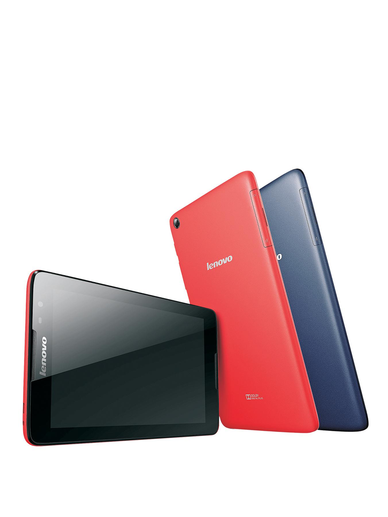 Lenovo Tab A8-50 Wi-Fi plus 3G Quad Core Processor, 1Gb RAM 16Gb EMMC Storage, Wi-Fi, 8 inch Touchscreen Tablet - Red, Red
