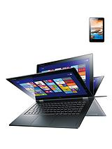Yoga 2 Pro Intel® Core™ i5 Processor, 4Gb RAM, 256Gb Storage, Wi-Fi, 13.3 inch Touchscreen Convertible Laptop with free Lenovo Tab A7-50 7 inch tablet - Silver