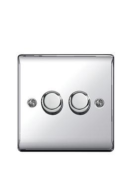british-general-electrical-raised-2g-dimmer-switch-polished-chrome