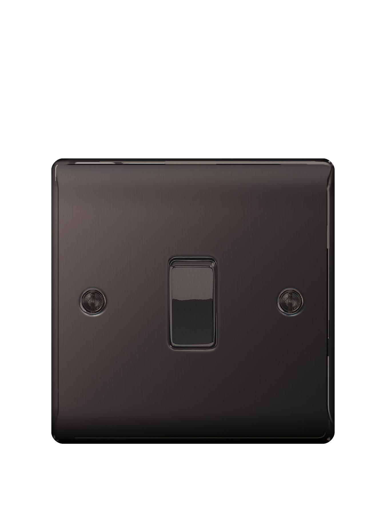 British General Electrical Raised 1g 2-Way Switch - Black Nickel