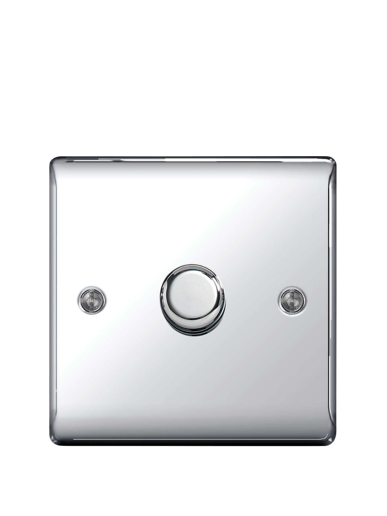 British General Electrical Raised 1g Dimmer Switch - Polished Chrome