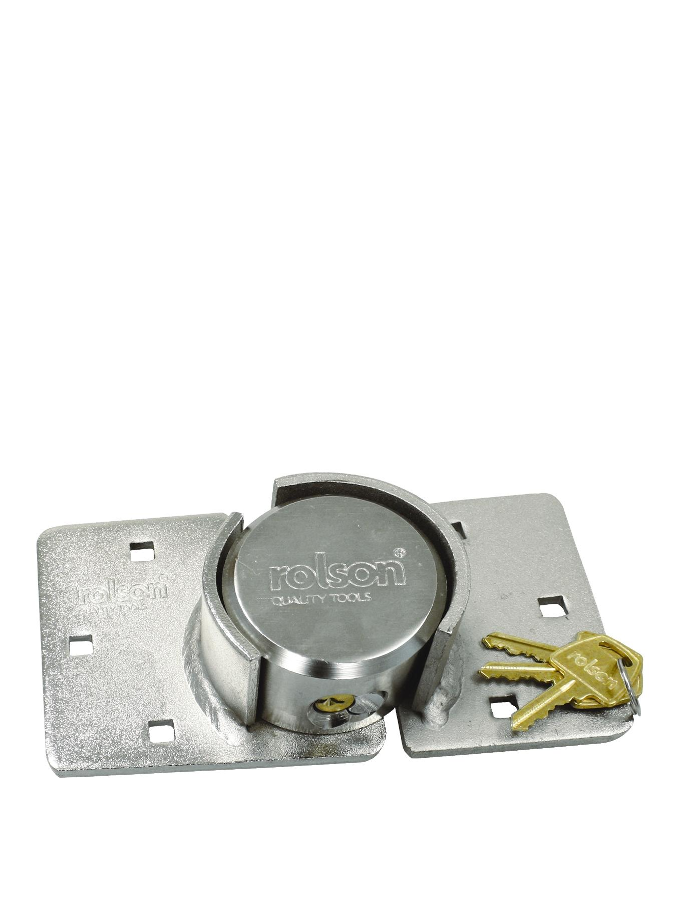 Rolson 73mm Round Padlock and Hasp