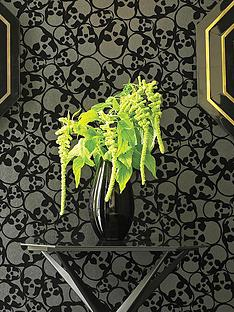 barbara-hulanicki-skulls-wallpaper-black
