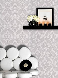 kelly-hoppen-graham-brown-blue-label-style-vintage-flock-wallpaper