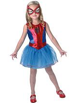 Girls Spidergirl Tutu Dress - Child Costume