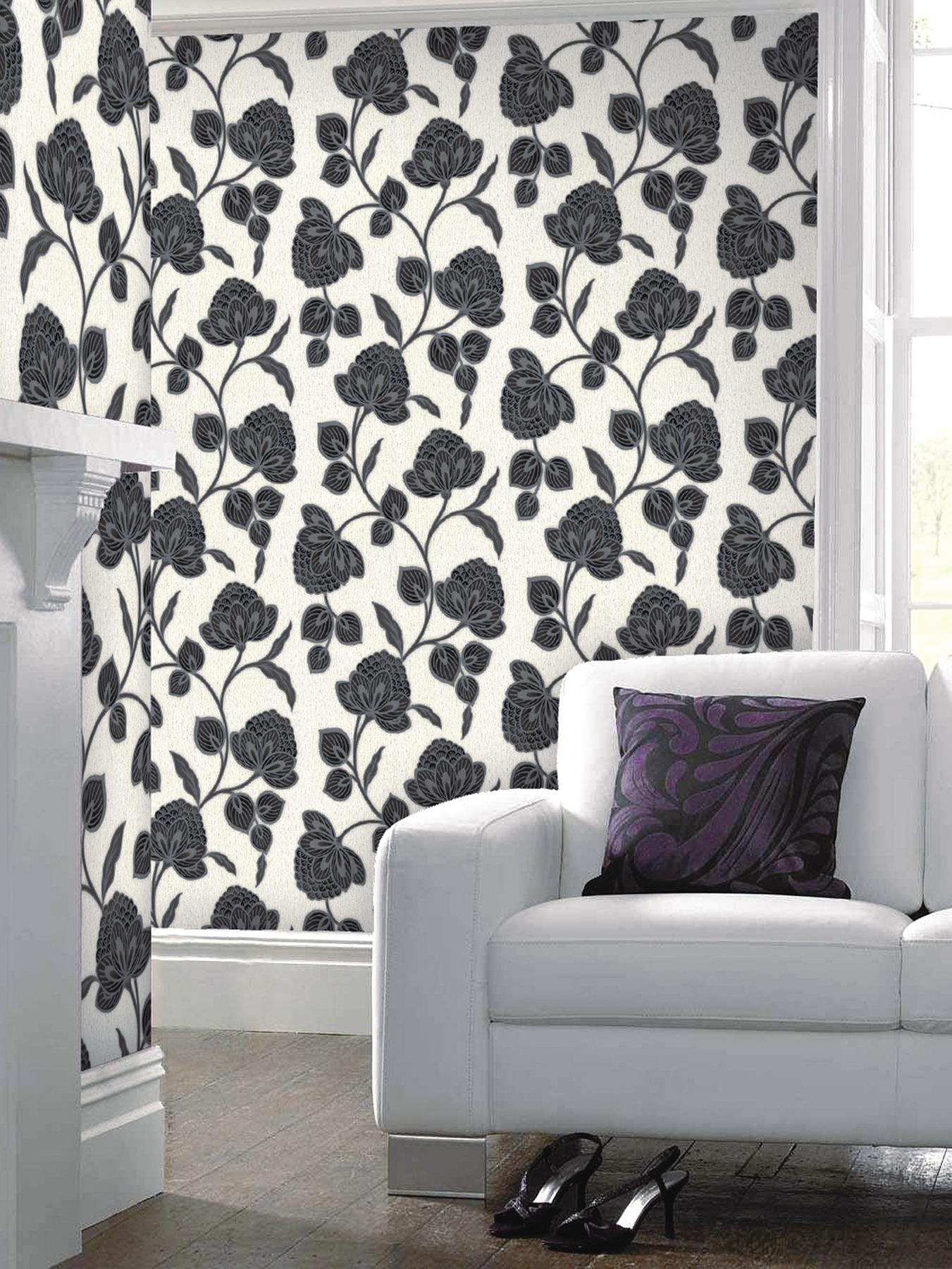 Graham & Brown Nadira Wallpaper - Black