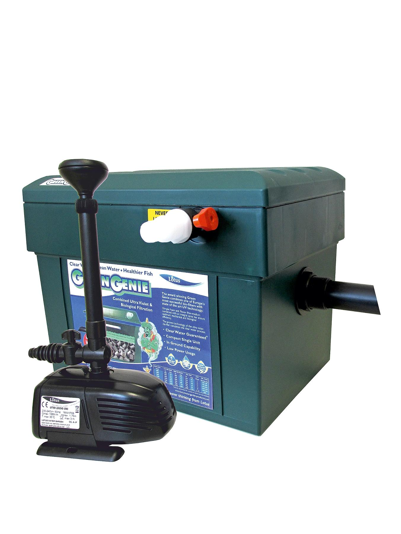 Lotus Green Genie Triple Kit 3000 Including an Otter Legend 2000 Pond Pump