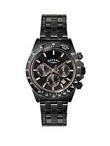 Chronograph Black Stainless Steel Mens Watch