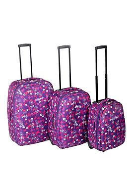constellation-3-piece-luggage-set-butterfly-print