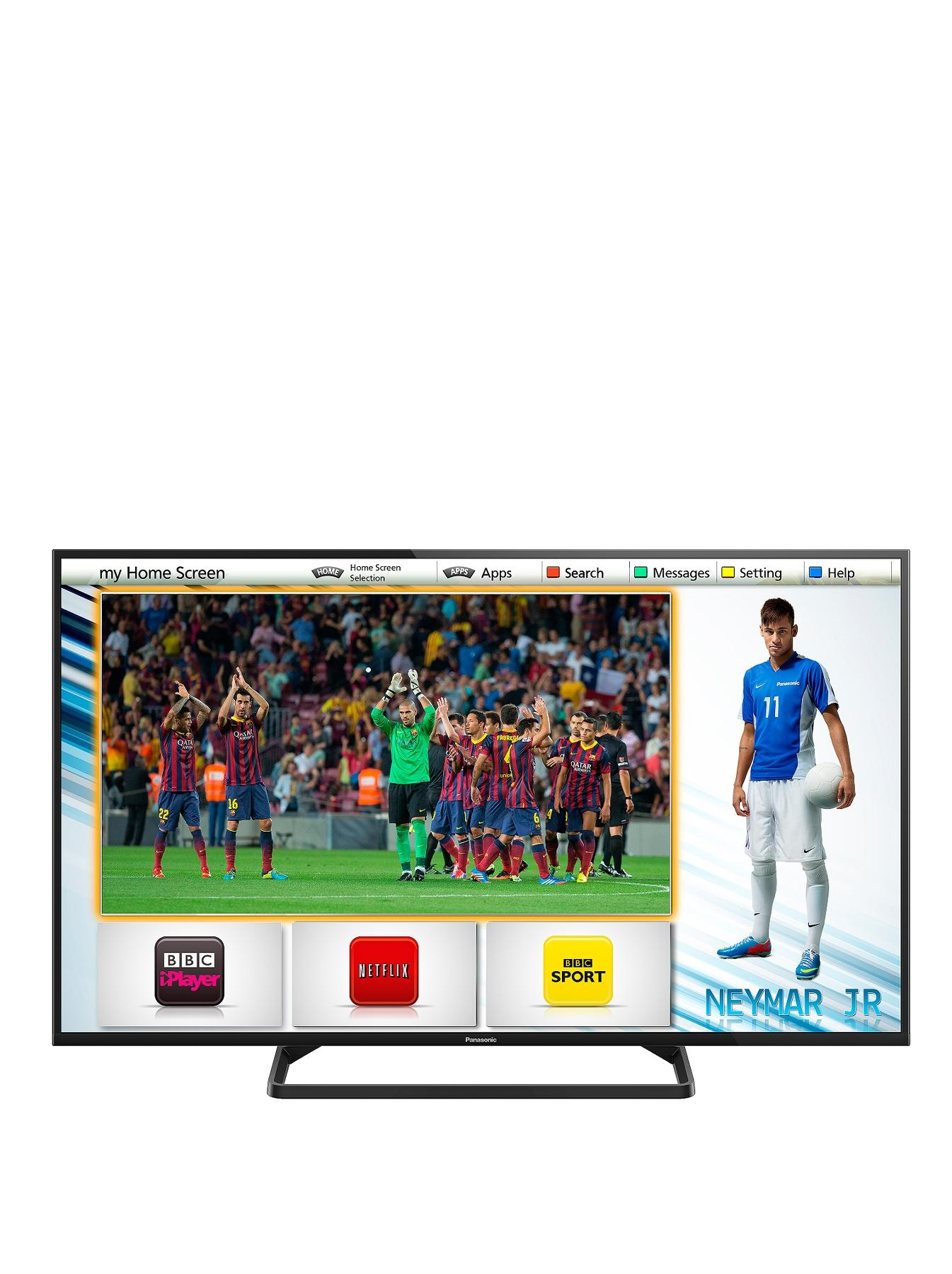 Panasonic TX-50AS500B 50-inch Widescreen 1080p Full HD Smart LED TV with Built-In Wi-Fi and Freeview