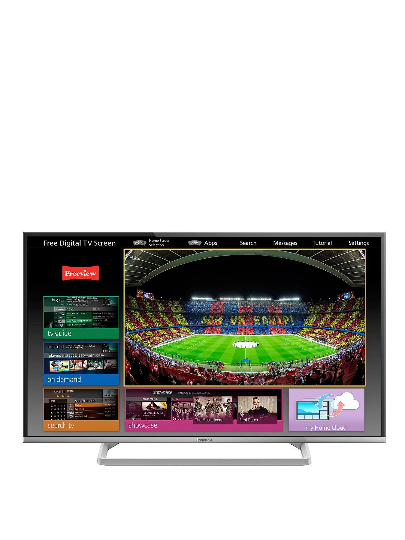 Panasonic TX-42AS600B 42 inch Smart Full HD, Freeview HD LED TV with Freetime