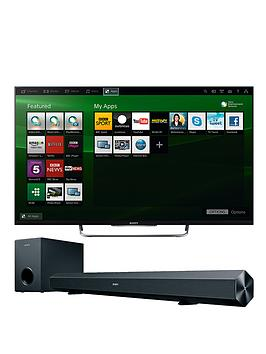 sony-w8-42-inch-full-hd-led-3d-smart-tv-with-free-soundbar-black