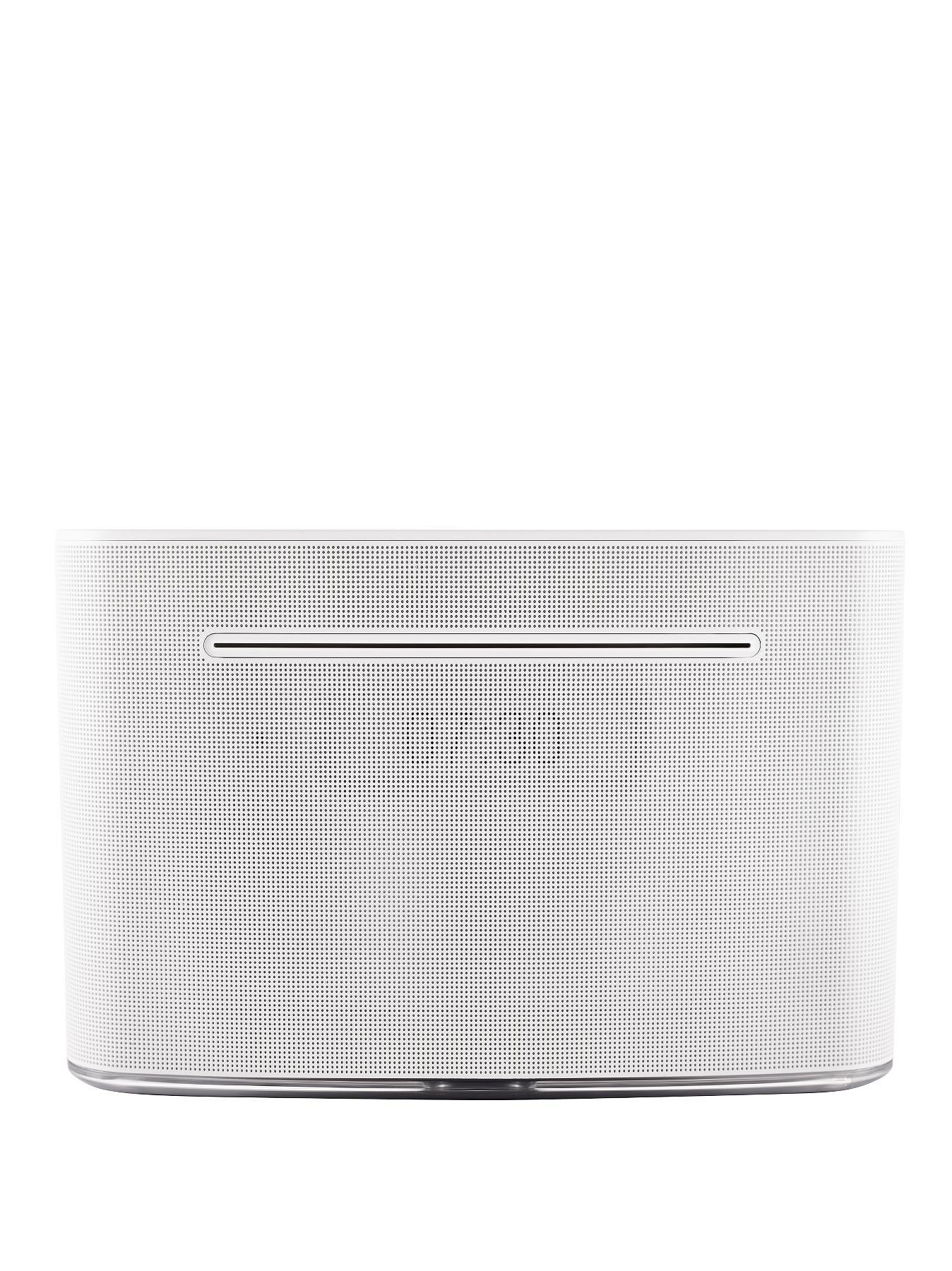 LG CM2540DAB Wireless Audio System with Smart Awake Lighting - White, White