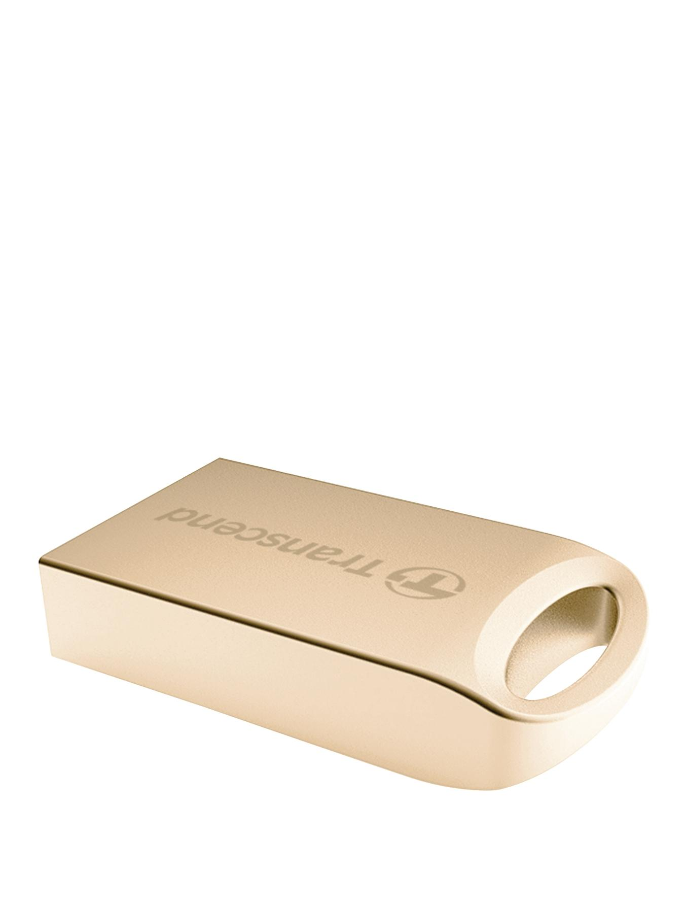 Transcend JetFlash Luxury Series 8Gb USB Flash Drive - Gold Plating