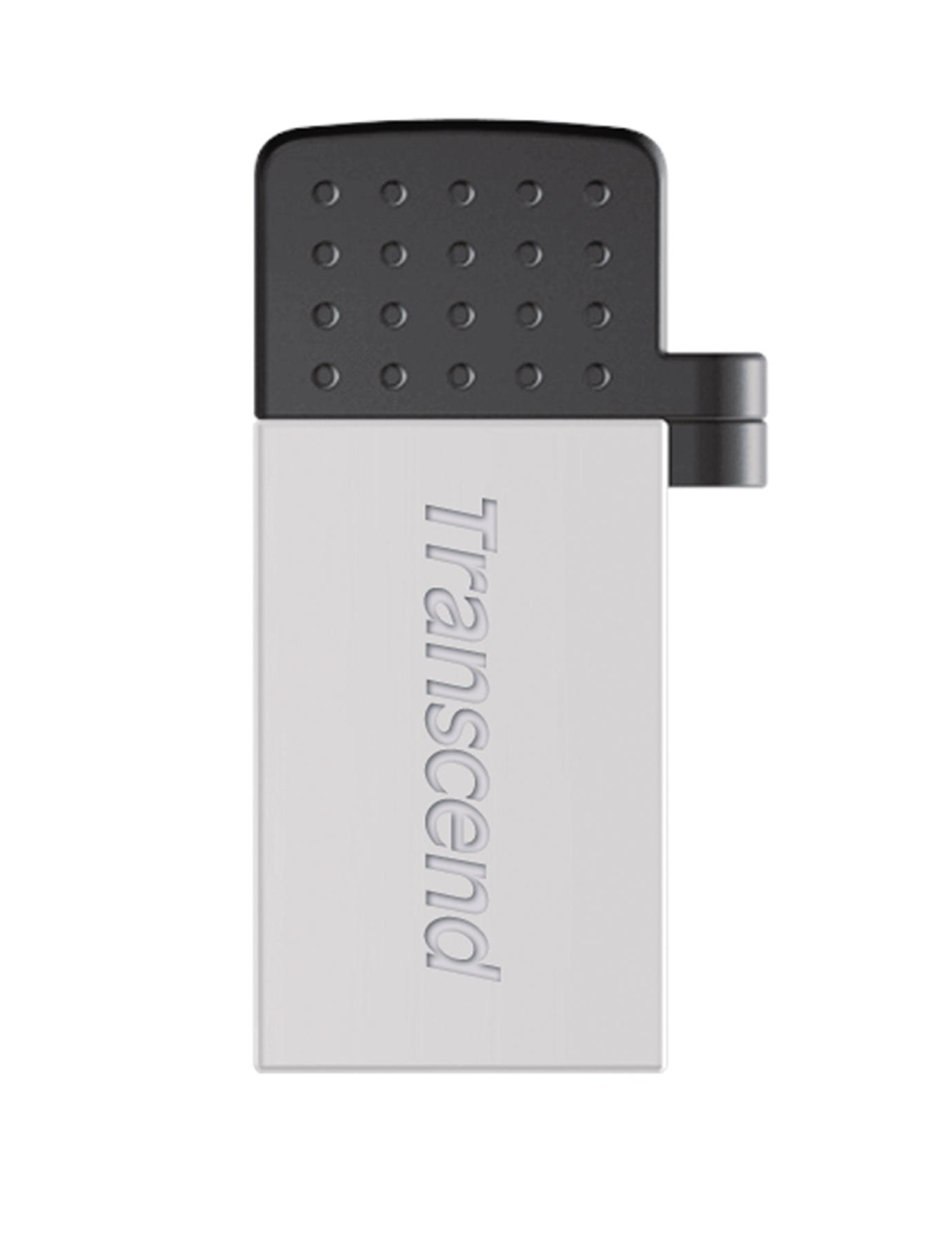 Transcend JetFlash 380 32Gb USB Flash Drive - Silver Plated