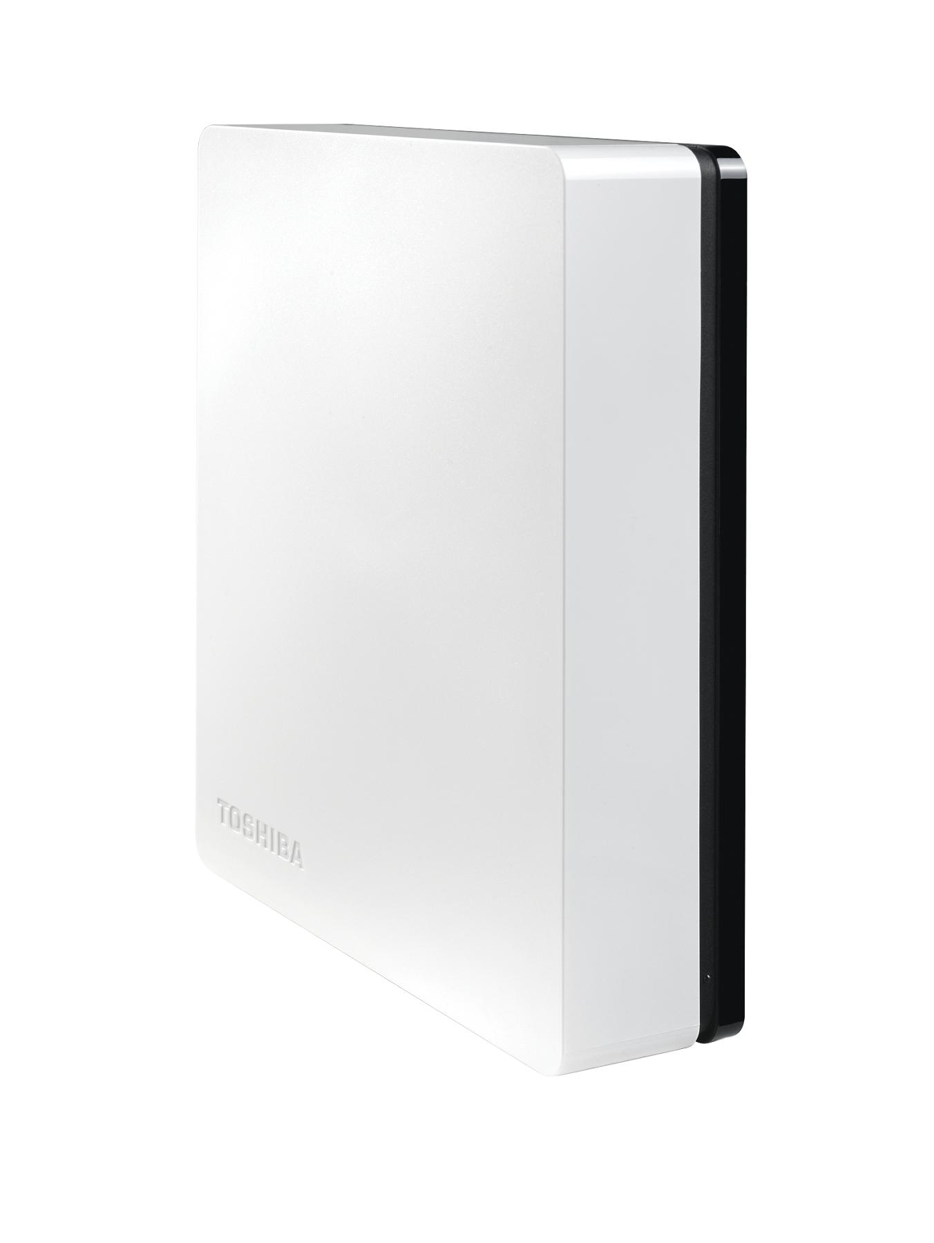 Toshiba STOR.E Canvio Desktop 3Tb External Desktop Hard Drive - Black/White