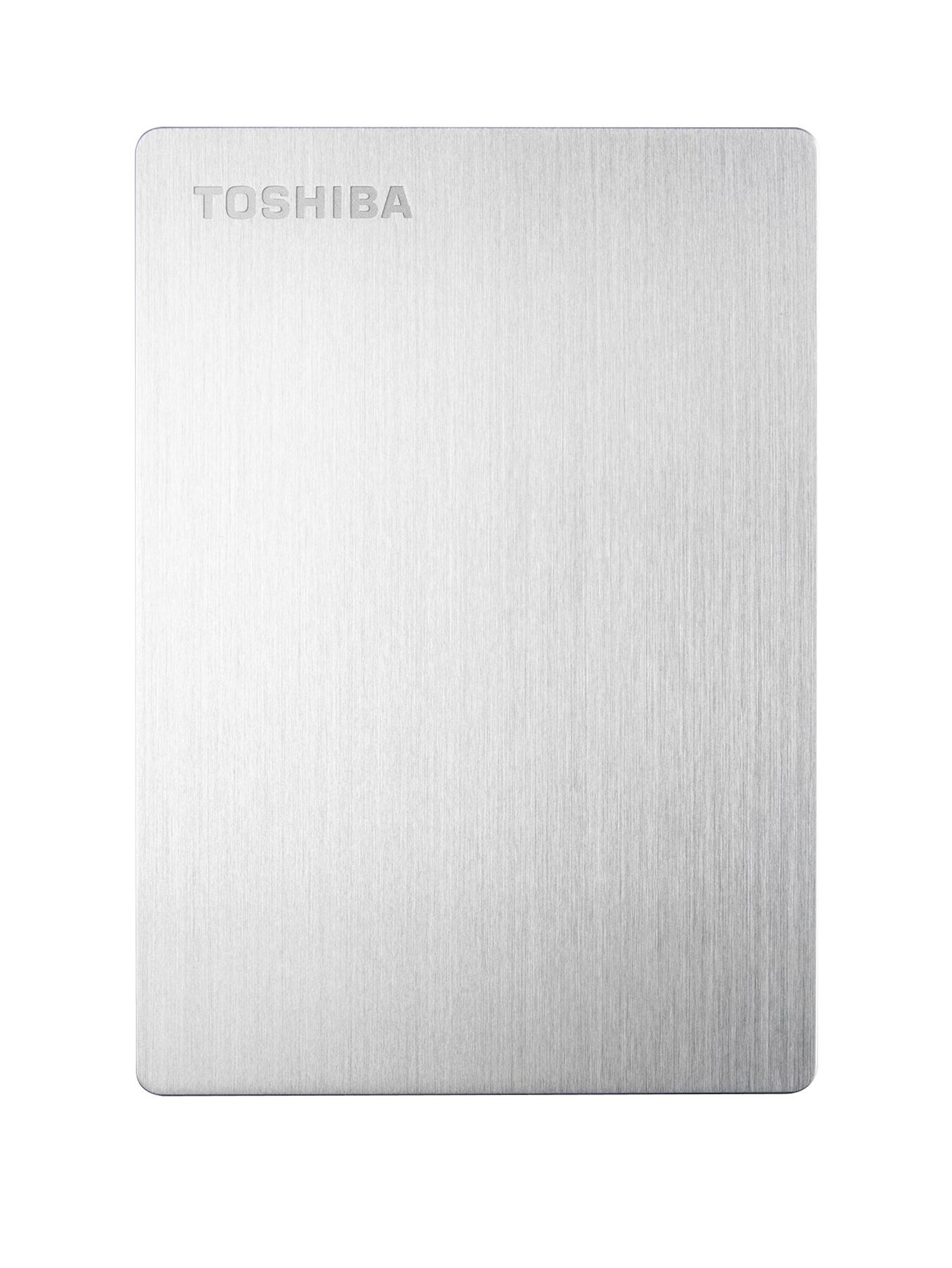 Toshiba Slim Mac 1Tb External Portable Hard Drive - Silver