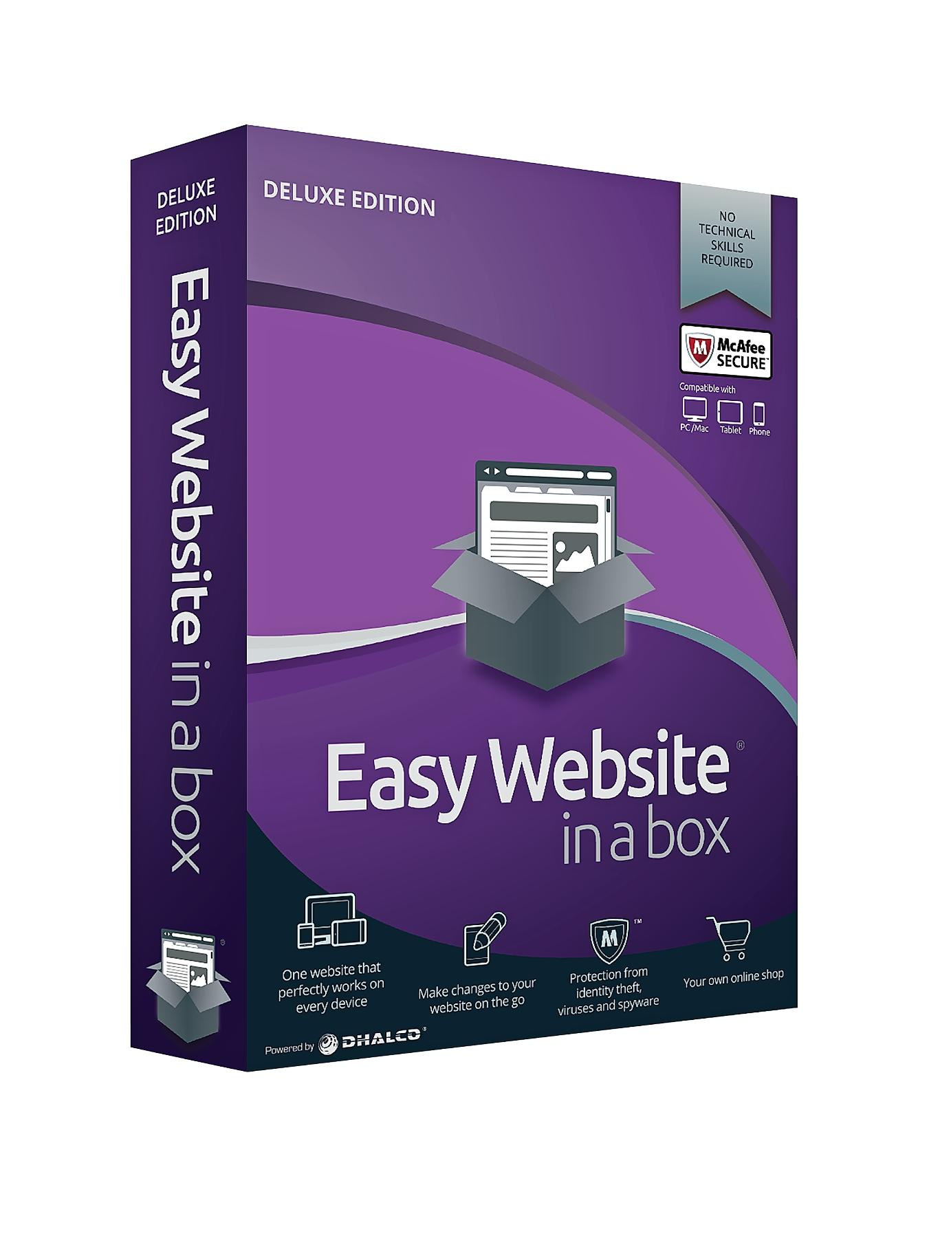 DHALCO Easy Website in a Box Deluxe Edition 1 Year Licence