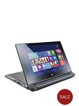 lenovo-flex-10-intelreg-celeronreg-processor-4gb-ram-320gb-storage-wi-fi-10-inch-touchscreen-2-in-1-laptop-with-optional-office-365-black