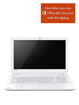 toshiba-l50-b-1qv-intelreg-coretrade-i5-processor-6gb-ram-1tb-hard-drive-wi-fi-156-inch-laptop-with-2gb-dedicated-graphics-and-optional-microsoft-office-365-personal-white