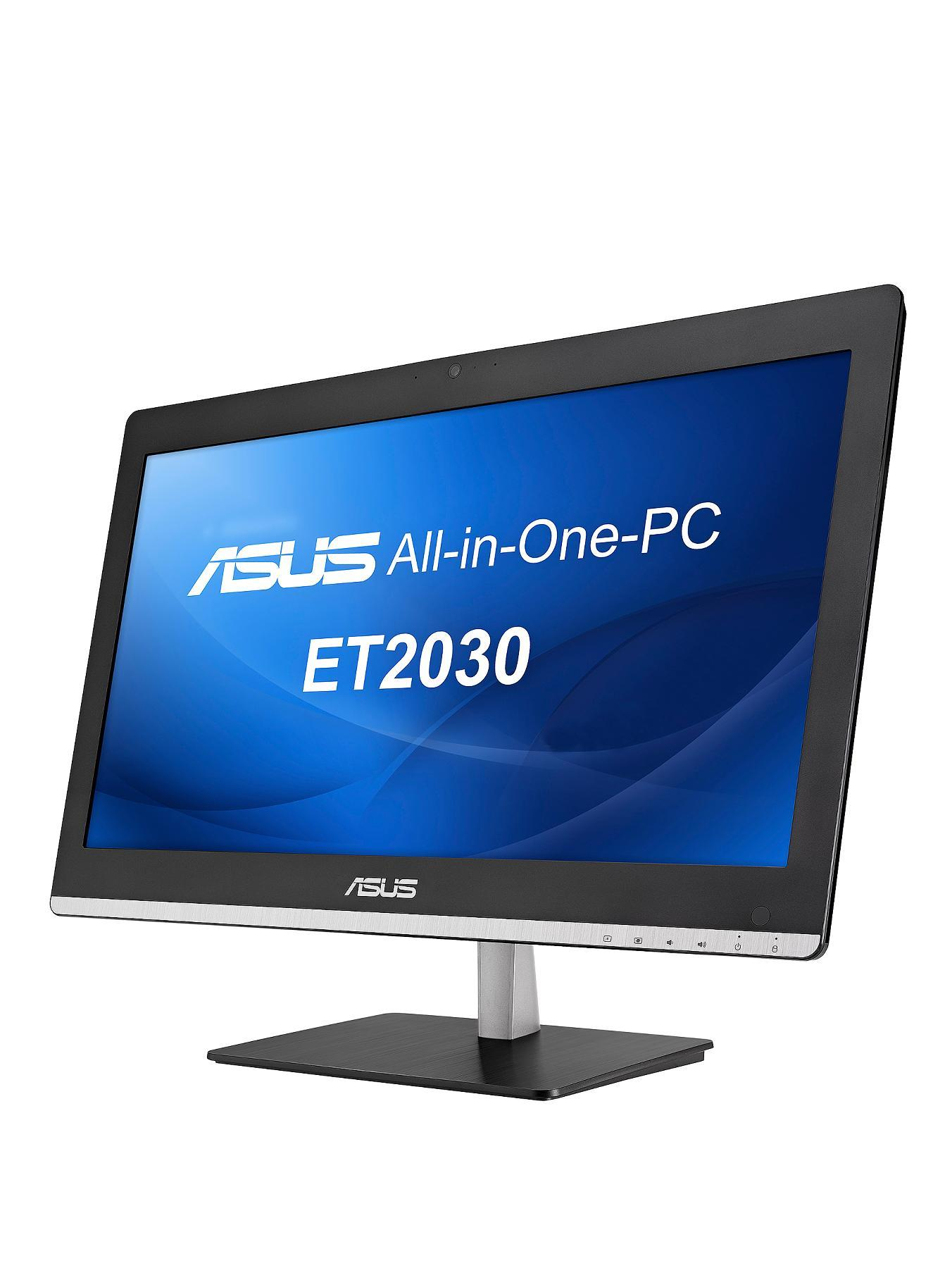 Asus ET2031IUK Intel Pentium Processor, 4GB RAM, 500GB Hard Drive, Wifi, 20 inch, All In One Desktop - Black/Silver