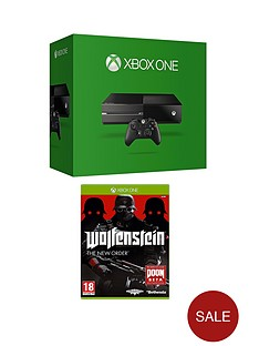 xbox-one-console-with-wolfenstein-and-optional-3-or-12-months-xbox-live