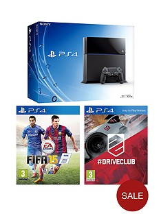 playstation-4-500gb-console-with-fifa-15-and-driveclub