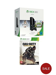 xbox-360-500gb-console-with-plants-vs-zombies-garden-warfare-and-call-of-duty-advanced-warfare-with-optional-3-or-12-months-xbox-live