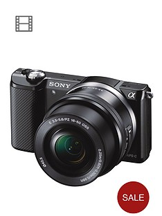 sony-ilce5000l-twin-kit-201-megapixel-interchangeable-lens-camera-with-selp1650-and-sel55210-lens-kits