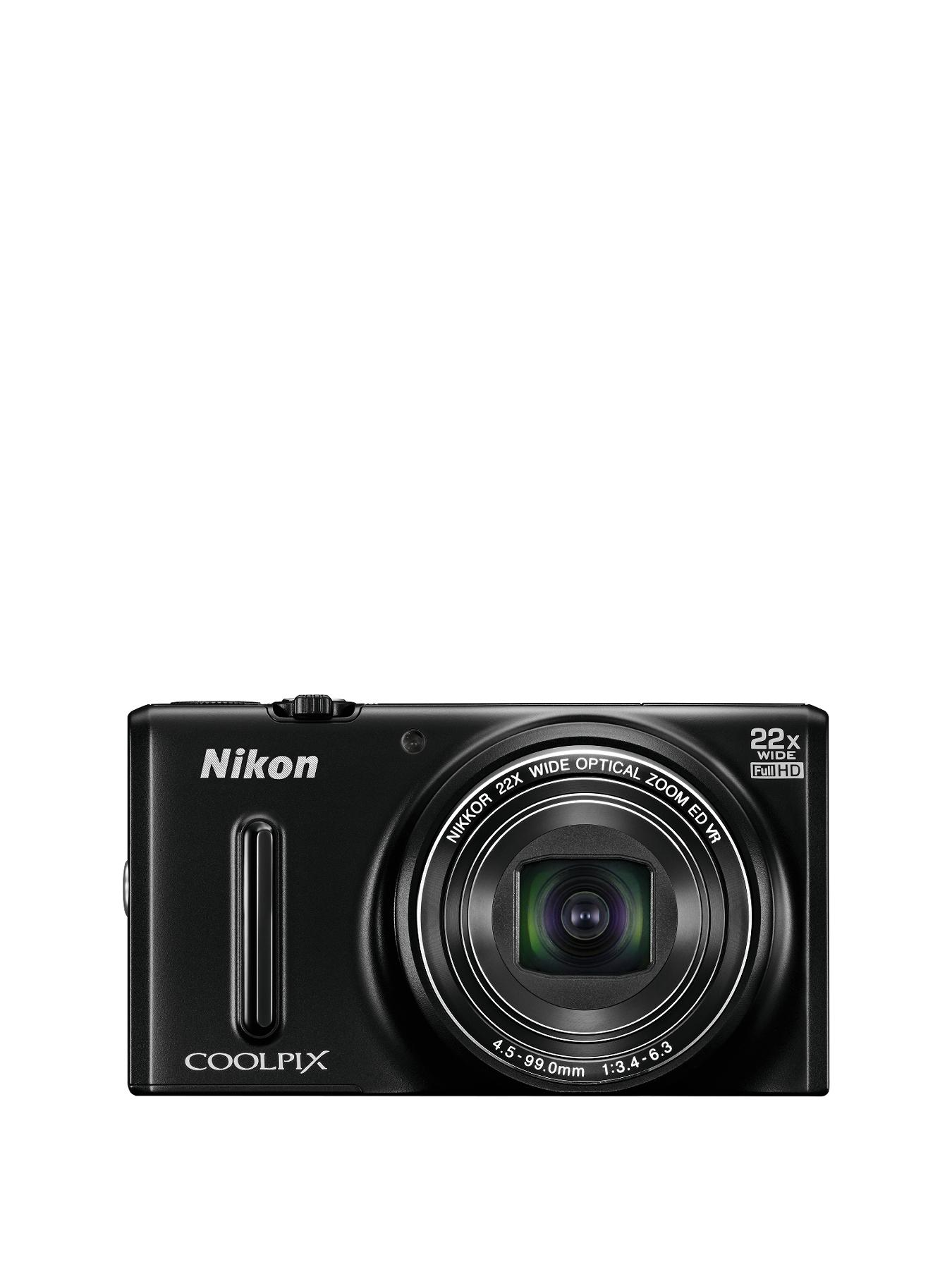 Nikon S9600 16 Megapixel Digital Camera - Black