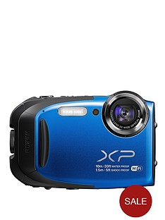 fuji-finepix-tough-camera-bundle-including-1-x-xp70-camera-blue-action-jacket-float-strap-and-8gb-sd-card