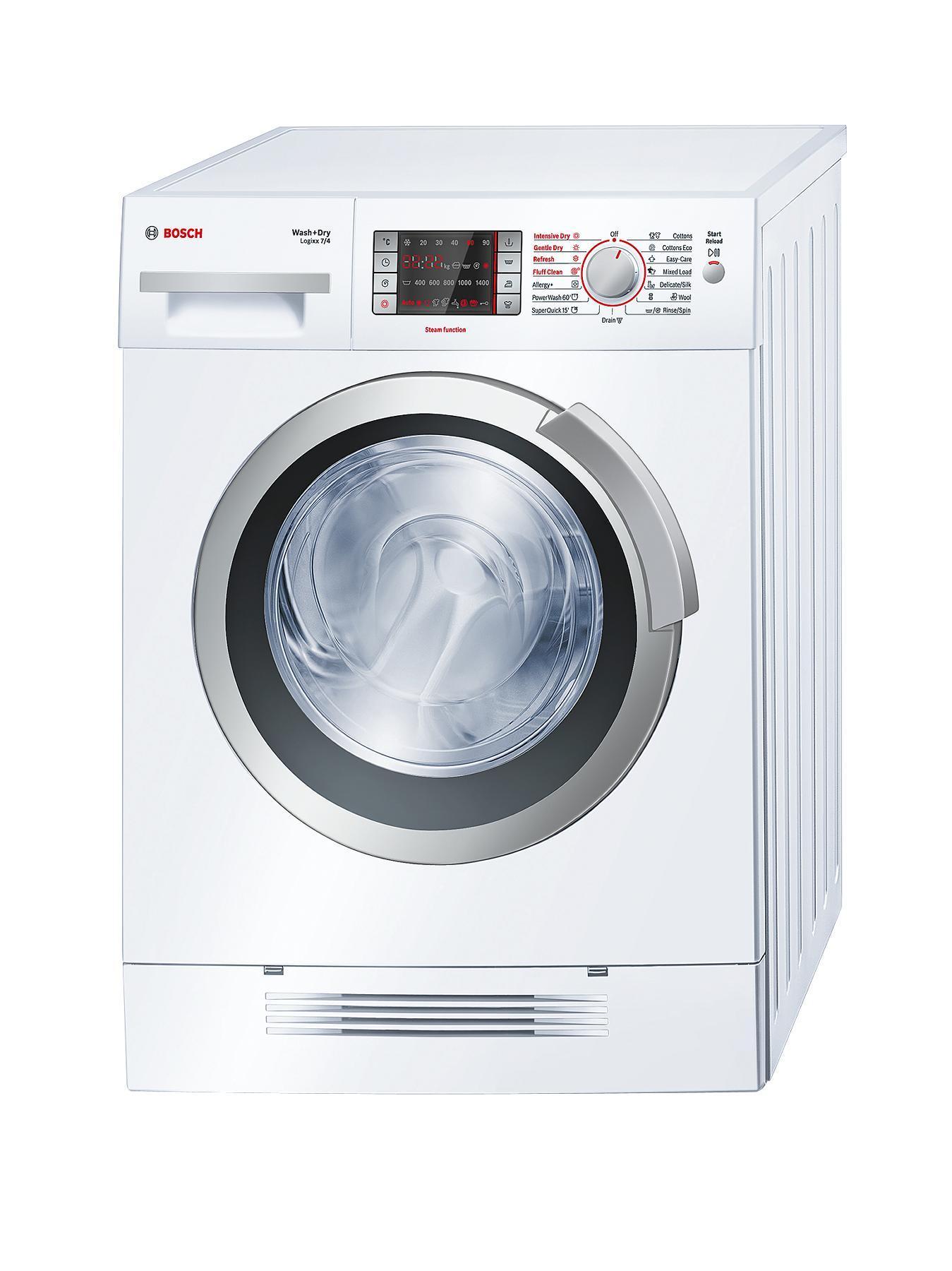 Bosch Logixx WVH28421Gb 1400 Spin, 7kg + 4kg Washer Dryer - White