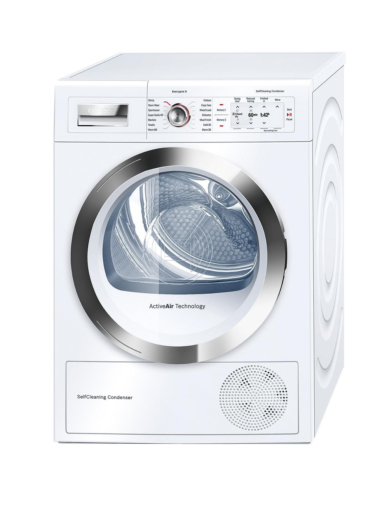 Bosch Eco Logixx WTY86790Gb 8kg Load Condenser Tumble Dryer - White