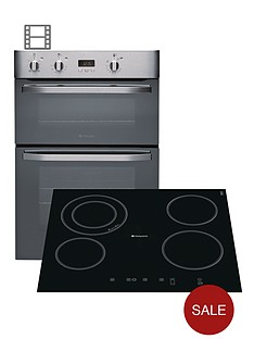 hotpoint-dhs53xs-double-fan-oven-and-cra641dc-ceramic-hob-pack