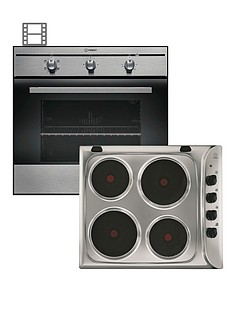 indesit-fim21kbix-single-oven-and-pim604ix-electric-hob-pack